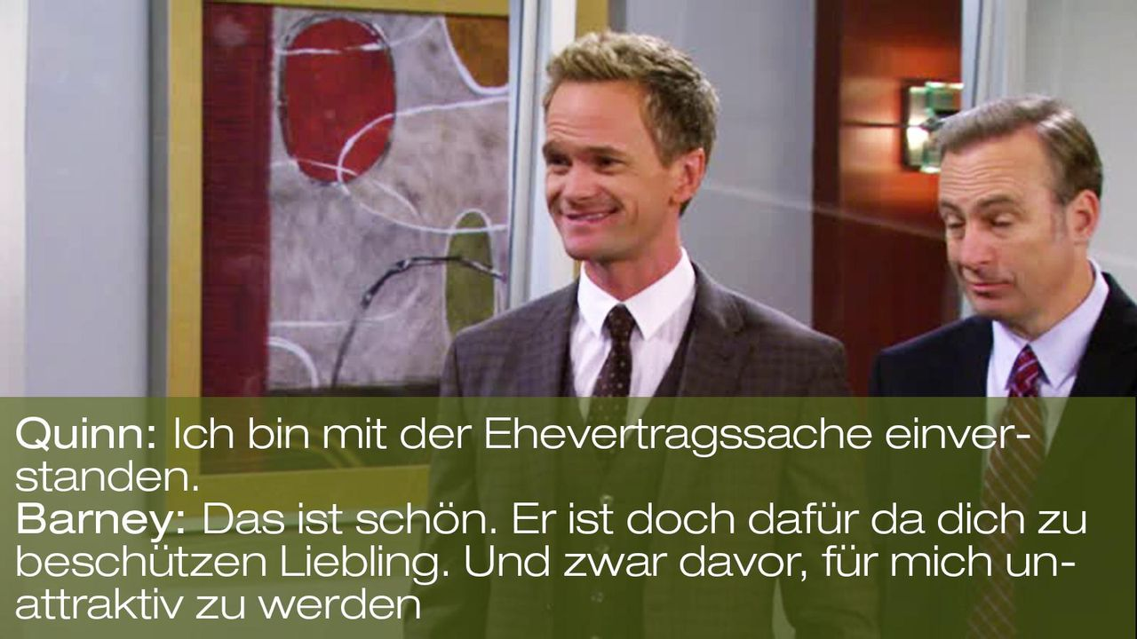 how-i-met-your-mother-zitat-quote-staffel-8-episode-2-prenup-klaus-zuhaus-11-barney-beschuetzen-foxpng 1600 x 900 - Bildquelle: 20th Century Fox