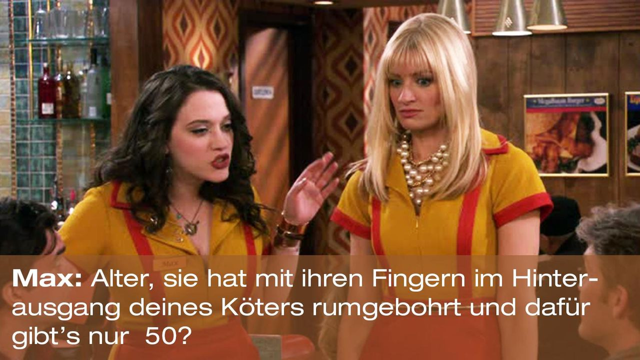 2-broke-girls-zitat-staffel1-episode-19-spring-break-max-hinterausgang-warnerpng 1600 x 900 - Bildquelle: Warner Brothers Entertainment Inc.