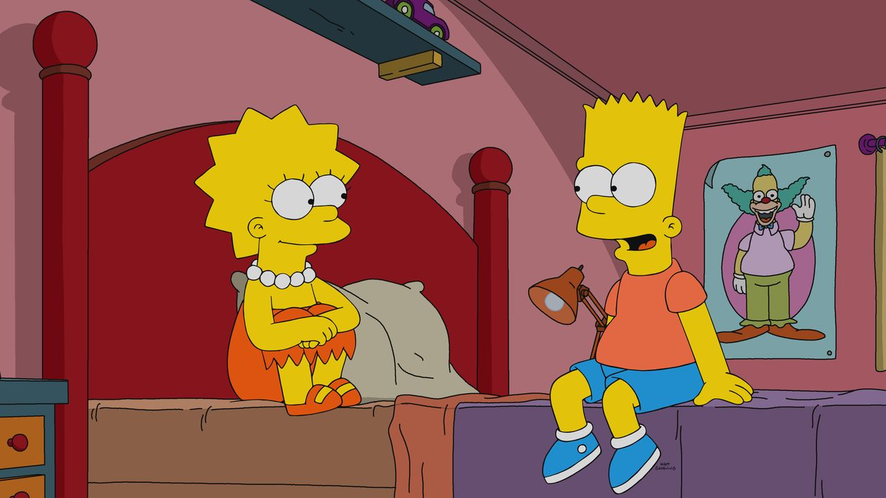Lisa (l.); Bart (r.) - Bildquelle: 2020 by Twentieth Century Fox Film Corporation.