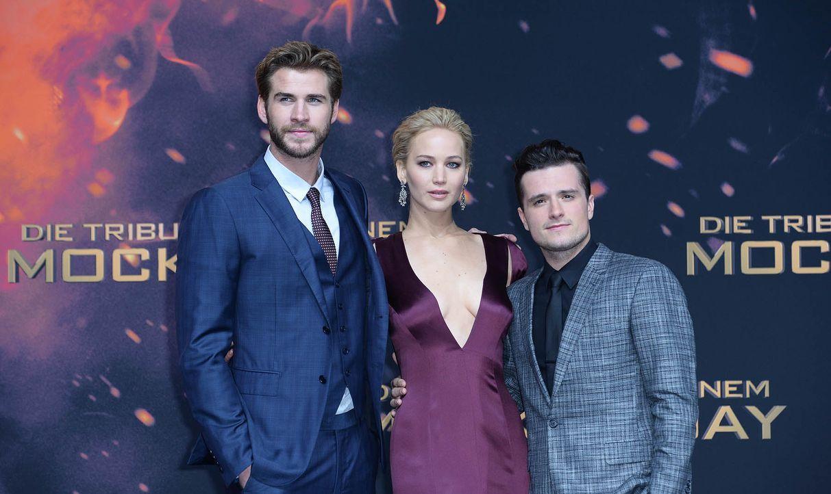 Premiere-Mockingjay-Liam-Hemsworth-Jennifer-Lawrence-Josh-Hutcherson-15-11-04-3-dpa - Bildquelle: dpa