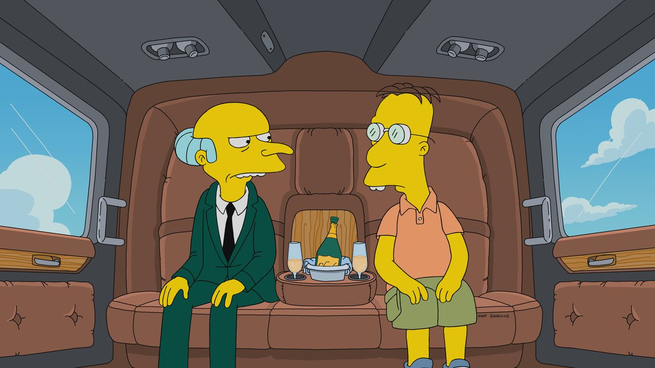 Mr. Burns (l.); Professor Frink (r.) - Bildquelle: 2019-2020 Twentieth Century Fox Film Corporation.  All rights reserved.
