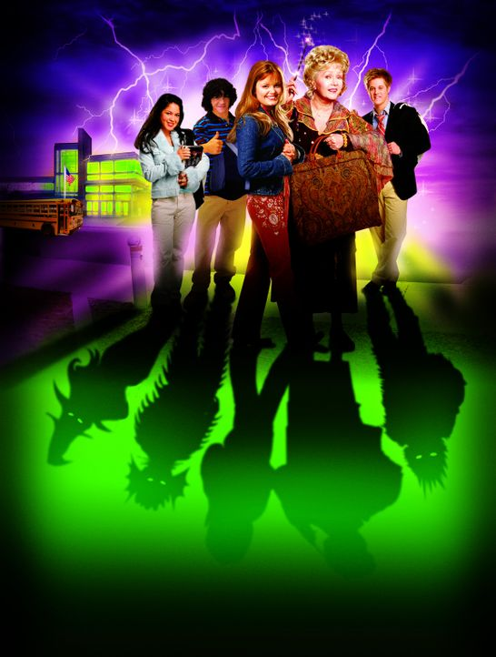 Halloweentown III: Halloweentown Highschool  - Artwork (Debbie Reynolds, 2.v.r. und Kimberly J. Brown, 3.v.l.) - Bildquelle: The Disney Channel
