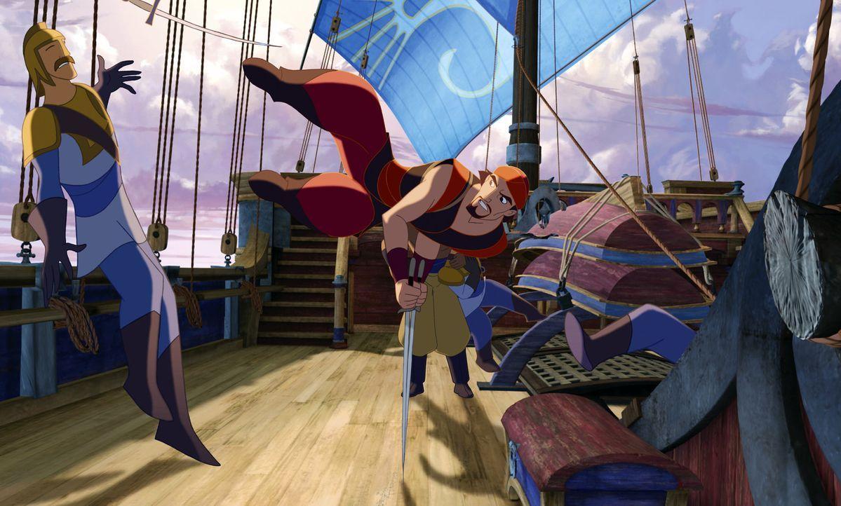 Sinbad, dem Herr der sieben Meere, wird ein Ultimatum gestellt: Er muss ein wertvolles Buch finden und zurückbringen oder sein bester Freund Proteu... - Bildquelle: DreamWorks SKG