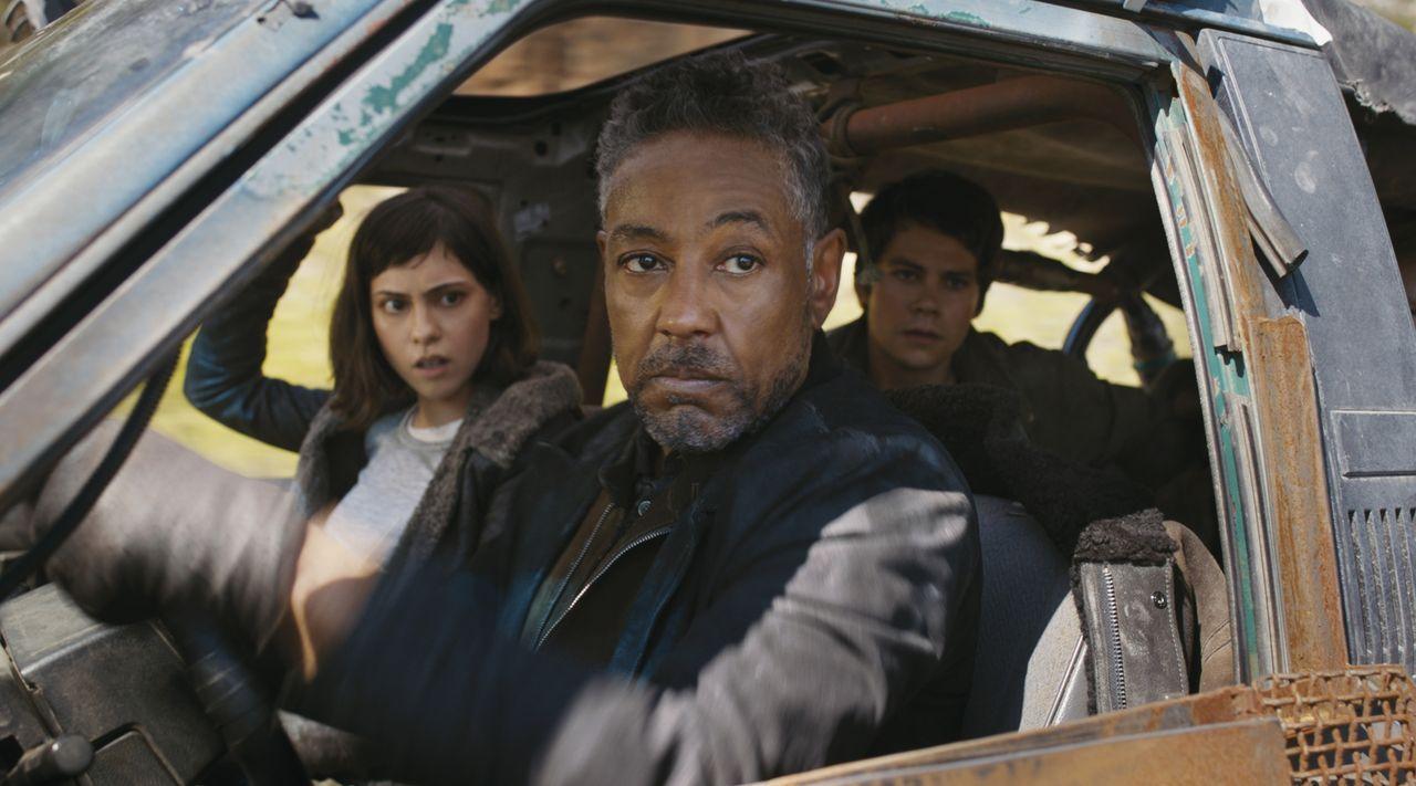 (v.l.n.r.) Brenda (Rosa Salazar); Jorge (Giancarlo Esposito); Thomas (Dylan O'Brien) - Bildquelle: 2017 Twentieth Century Fox Film Corporation.  All Rights Reserved.