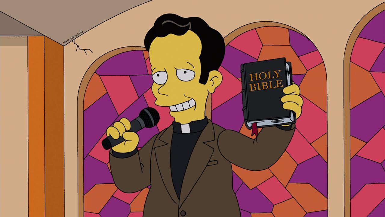 Rekrutiert Homer als Diakon: Priester Elijah Hooper ... - Bildquelle: und TM Twentieth Century Fox Film Corporation - Alle Rechte vorbehalten