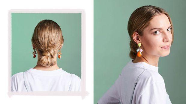 Der Sleek Bun – erinnert an ein spanisches Hairstyling. Dieser Look ist im Ha...