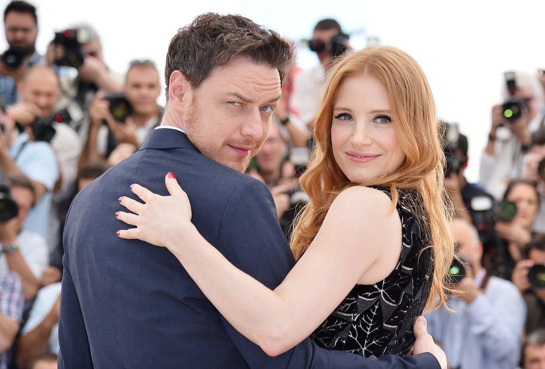 Cannes-Filmfestival-Jessica-Chastain-James-McAvoy -140518-3-AFP - Bildquelle: AFP