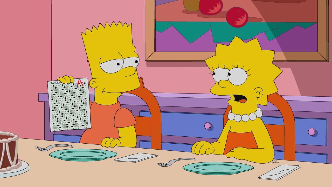 Bart (l.); Lisa (r.) - Bildquelle: 2021 by Twentieth Century Fox Film Corporation.