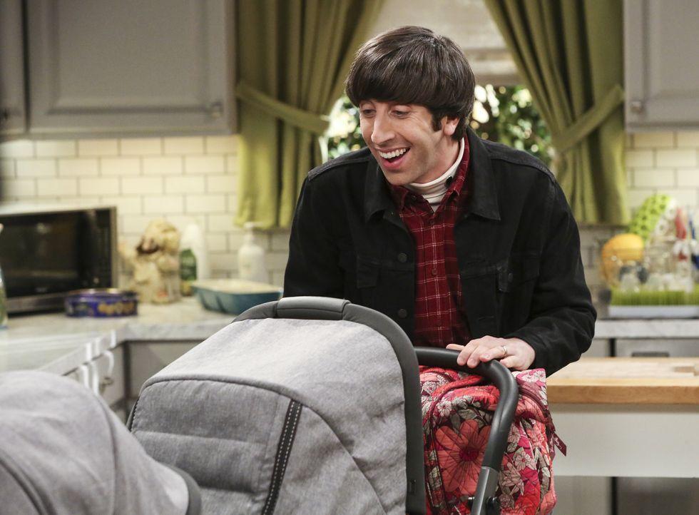 Würde Howard (Simon Helberg) tatsächlich mit den Kindern Zuhause bleiben und dafür seine Arbeit aufgeben? - Bildquelle: Warner Bros. Television