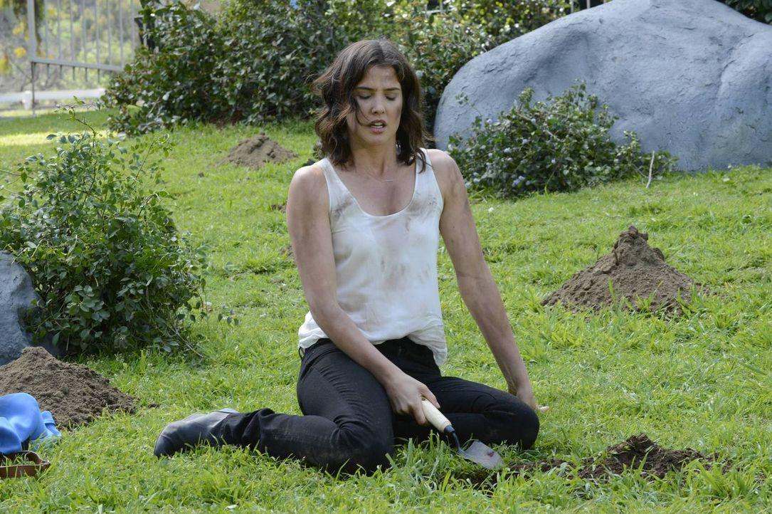 Robin (Cobie Smulders) sucht im Central Park nach einem Medaillon, das sie als junges Mädchen dort heimlich vergraben hatte. Damals hatte sie sich g... - Bildquelle: 2013 Twentieth Century Fox Film Corporation. All rights reserved.