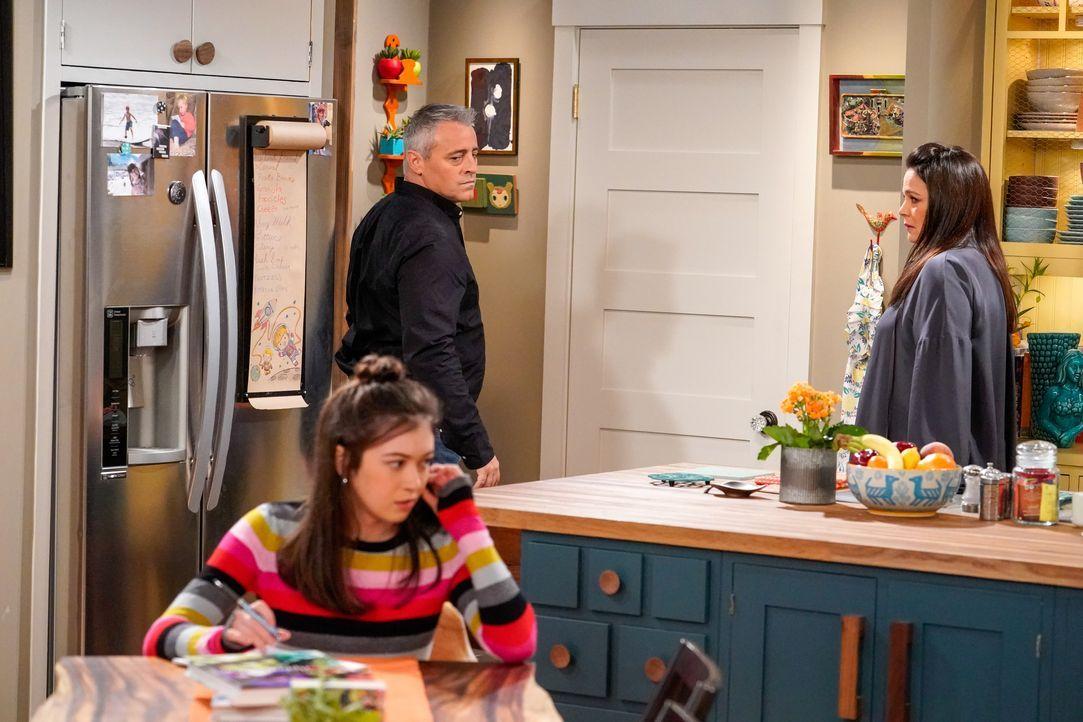 (v.l.n.r.) Kate Burns (Grace Kaufman); Adam Burns (Matt LeBlanc); Andi Burns (Liza Snyder) - Bildquelle: Robert Voets 2019 CBS Broadcasting Inc. All Rights Reserved. / Robert Voets