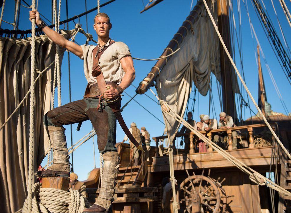 (1.Staffel) - Er ist seinem Captain treu ergeben: Billy Bones (Tom Hopper). Wirklich? - Bildquelle: 2013 Starz Entertainment LLC, All rights reserved