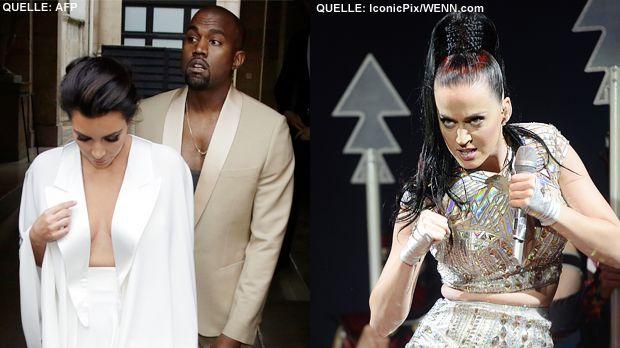 TOP Kim Kardashian und Kanye West FLOP Katy Perry - Bildquelle: AFP  /  IconicPix-WENN.com