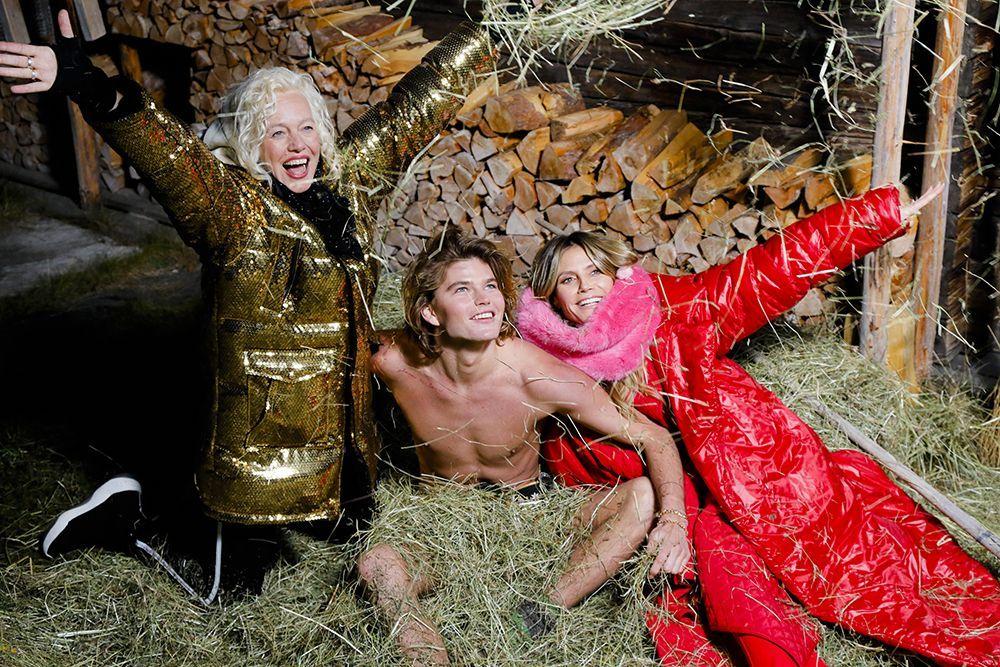 Ellen von Unwerth, Jordan Barrett, Heidi Klum - Bildquelle: ProSieben/Richard Hübner