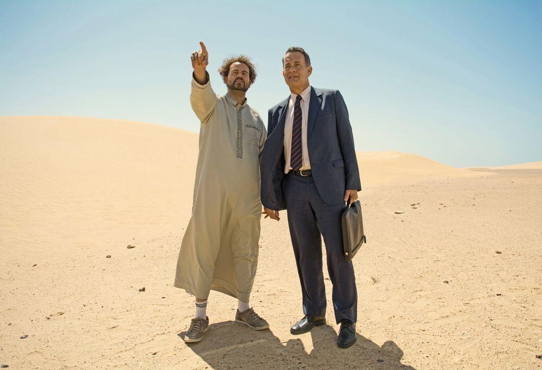 (v.l.n.r.) Yousef (Omar Elba); Alan (Tom Hanks) - Bildquelle: Helmut Prein Oberon Film GmbH / Helmut Prein