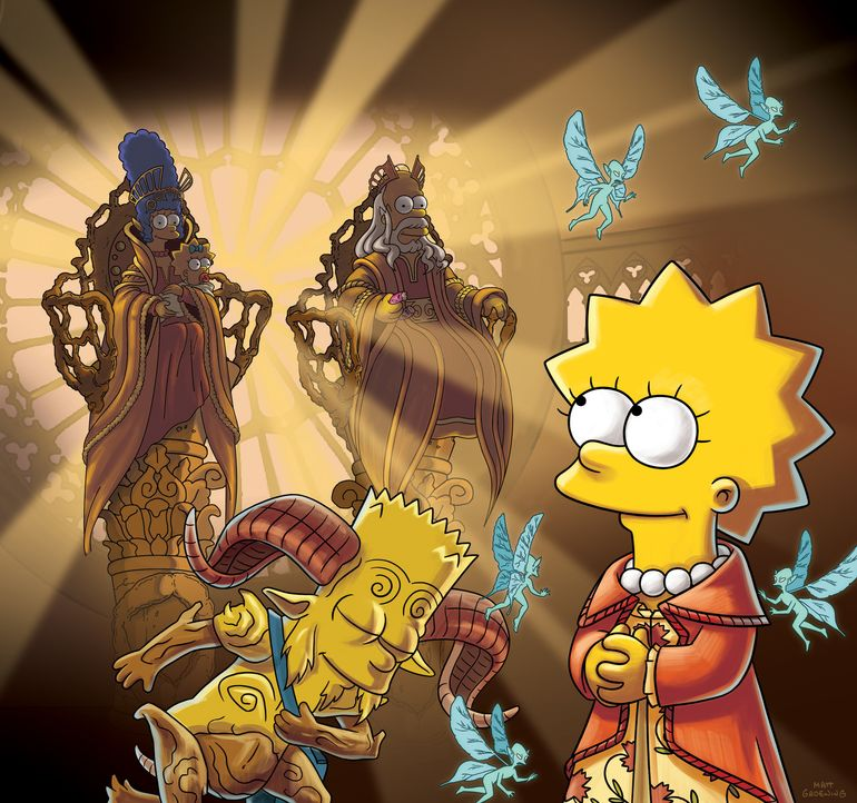Treehouse of Horror XXIV: Bart (vorne l.) und Lisa (vorne r.) ... - Bildquelle: 2013 Twentieth Century Fox Film Corporation. All rights reserved.