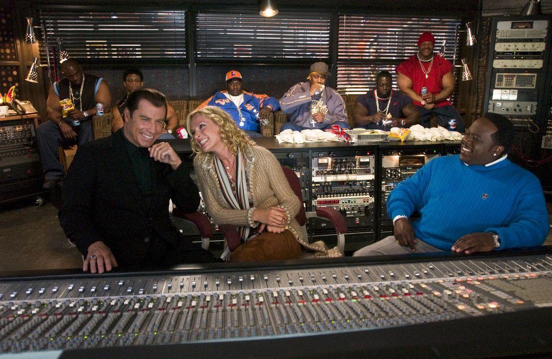 Als neuer Manager der Sängerin Linda Moon hat Chili Palmer (John Travolta, l.) bereits ein Supertalent und mit seiner alten Freundin Edie (Uma Thur... - Bildquelle: Metro-Goldwyn-Mayer Studios Inc. All Rights Reserved.