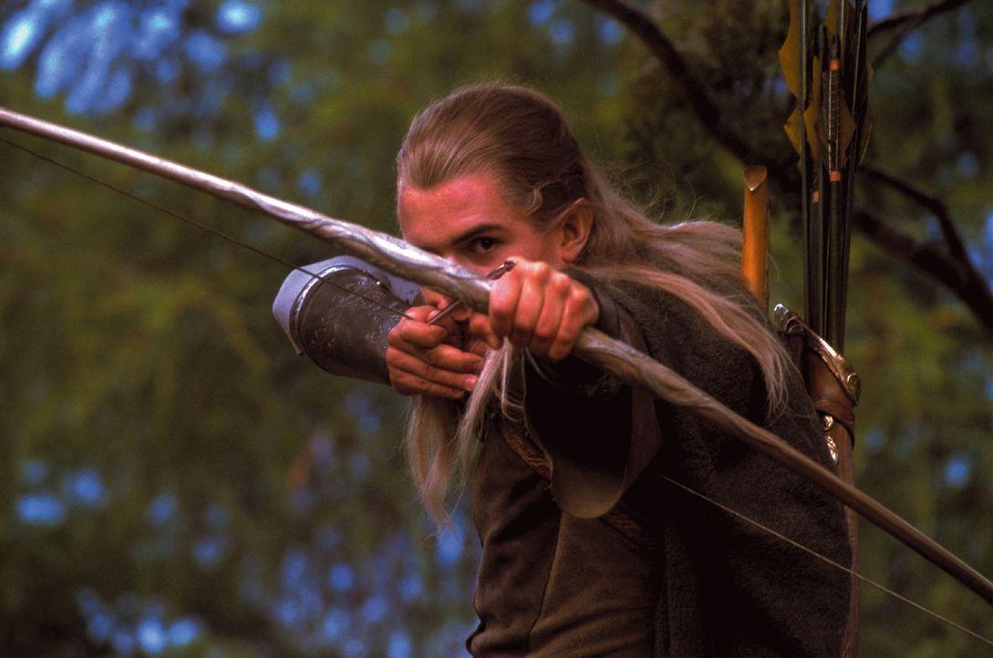 Als Legolas (Orlando Bloom) endlich zum Schlachtfeld kommt, findet er den schwer verletzten Boromir vor ... - Bildquelle: Warner Brothers