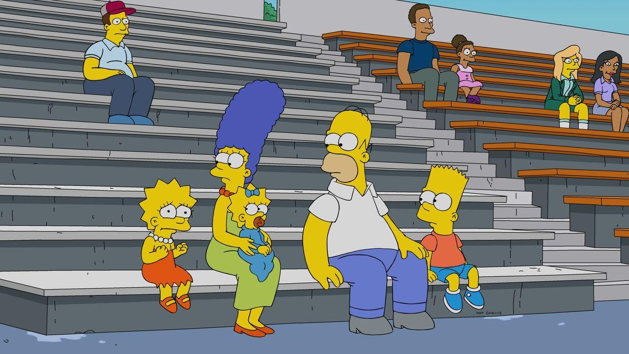 (v.l.n.r.) Lisa; Marge; Maggie; Homer; Bart - Bildquelle: 2019-2020 Twentieth Century Fox Film Corporation.  All rights reserved.