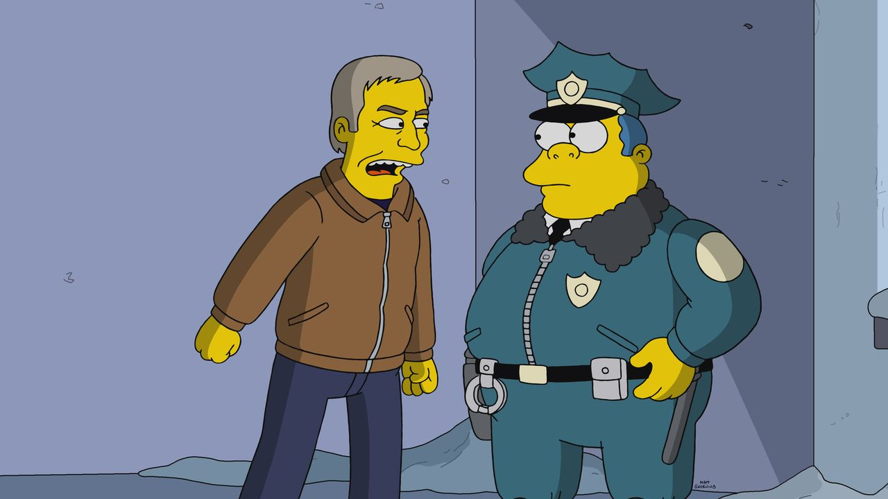 Scott Bakula (l.); Chief Wiggum (r.) - Bildquelle: 2019-2020 Twentieth Century Fox Film Corporation.  All rights reserved.