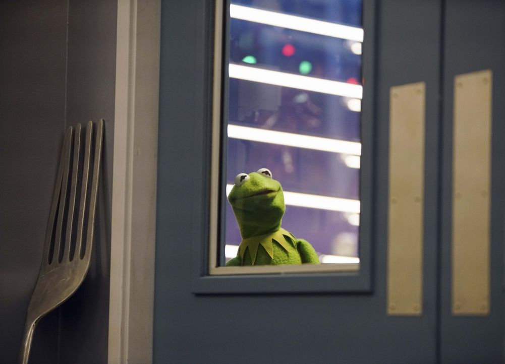 Steht vor dem Mindy-Problem: Kermit ... - Bildquelle: Andrea McCallin ABC Studios