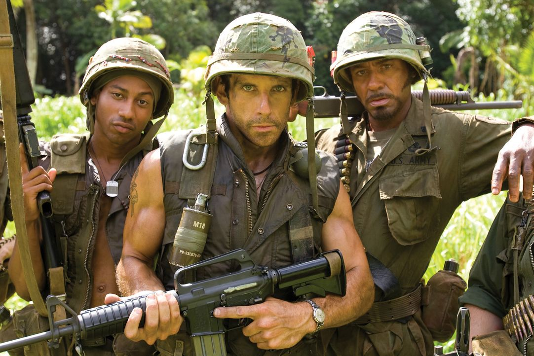 Tugg Speedman (Ben Stiller, M.) war mal ein erfolgreicher Schauspieler, doch sein Stern leuchtet nicht mehr so hell. Ein neuer Filmerfolg muss her u... - Bildquelle: 2008 DreamWorks LLC. All Rights Reserved.