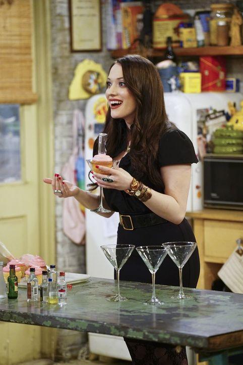 Nachdem feststeht, dass Caroline für den Film über ihr Leben viel Geld bekommen wird, hat Max (Kat Dennings) einen grandiosen Einfall für ihr gemein... - Bildquelle: 2016 Warner Brothers