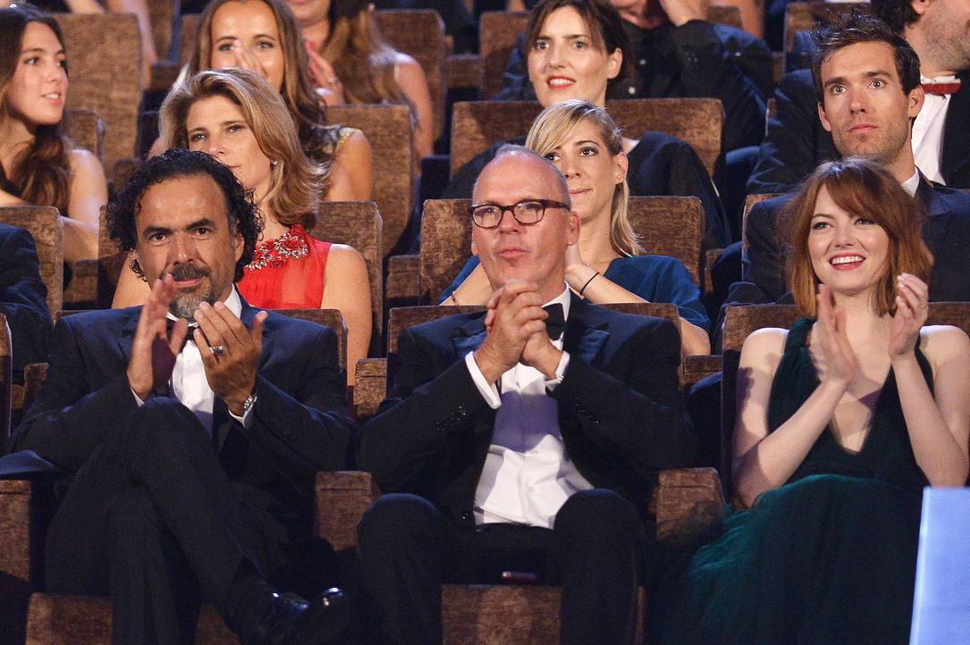 Alejandro- Inarritu-Michael- Keaton- Emma- Stone-14-08-27-Filmfestival-Venedig-AFP - Bildquelle: AFP