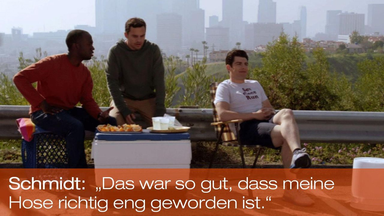 New Girl - Zitate - S1E19 - Winston (Lamorne Morris), Nick (Jake Johnson), Schmidt (Max Greenfield) 1600 x 900 - Bildquelle: 20th Century Fox
