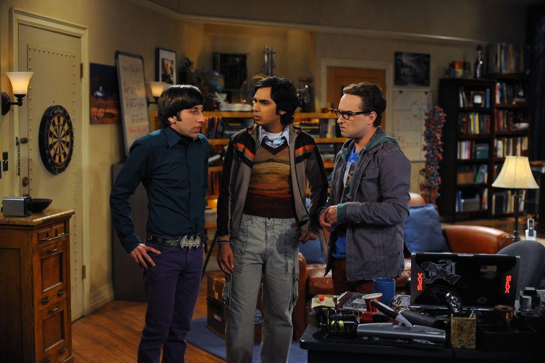 (v.l.n.r.) Howard Wolowitz (Simon Helberg); Rajesh Koothrappali (Kunal Nayyar); Leonard Hofstadter (Johnny Galecki) - Bildquelle: Warner Bros. Television