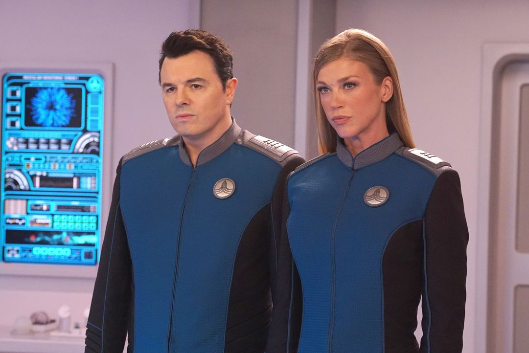 Capt. Ed Mercer (Seth MacFarlane, l.); Cmdr. Kelly Grayson (Adrianne Palicki, r.) - Bildquelle: 2019 Twentieth Century Fox Film Corporation.  All rights reserved.