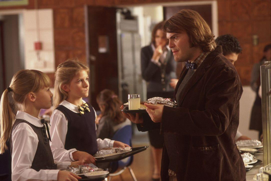 Zuerst will Dewey (Jack Black, r.) Eleni (Veronica Afflerbach, l.), Michelle (Jordan-Claire Green, M.) und die anderen Kinder lediglich mit ganztäg... - Bildquelle: Paramount Pictures