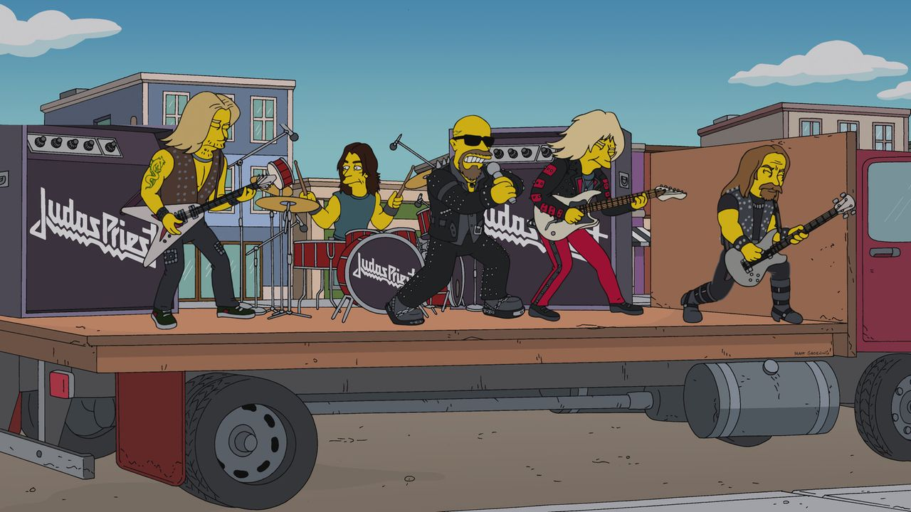 "Judas Priest sind mit ihrem Titel ""Breaking the Law"" nicht nur für Homer, sondern auch für den schwedischen Konsul ein leuchtendes Vorbild ... - Bildquelle: 2013 Twentieth Century Fox Film Corporation. All rights reserved."