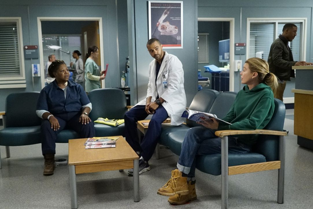 (v.l.n.r.) Robin (Cleo King); Dr. Jackson Avery (Jesse Williams); Dr. Meredith Grey (Ellen Pompeo) - Bildquelle: Kelsey McNeal 2019 American Broadcasting Companies, Inc. All rights reserved. / Kelsey McNeal