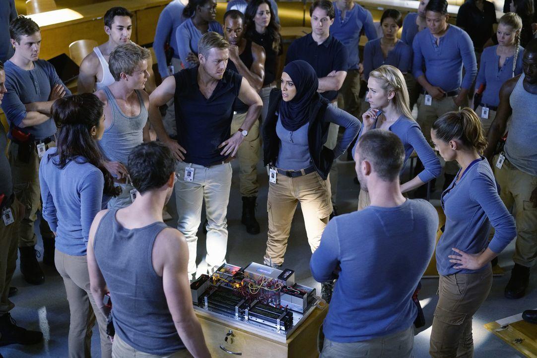 Eine explosive Zwischenprüfung endet damit, dass einige der Rekruten nach Hause geschickt werden. Doch wen wird es treffen? (vorne v.l.n.r.) Alex (P... - Bildquelle: Jonathan Wenk 2015 ABC Studios