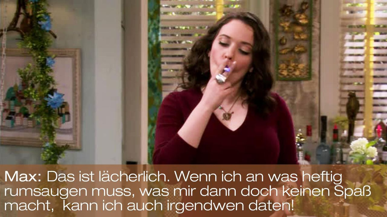 2-broke-girls-zitat-episode-15-staffel-1-blinde-fleck-max-kat-dennings-rumsaugen-bild-warnerpng 1600 x 900 - Bildquelle: Warner Brothers Entertainment Inc.