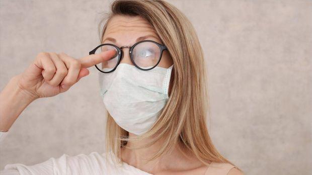 Schutzmaske Brille Beschlägt