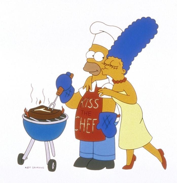 (9. Staffel) - Marge (r.) macht sich andauernd Sorgen um Homer (l.). - Bildquelle: und TM Twentieth Century Fox Film Corporation - Alle Rechte vorbehalten