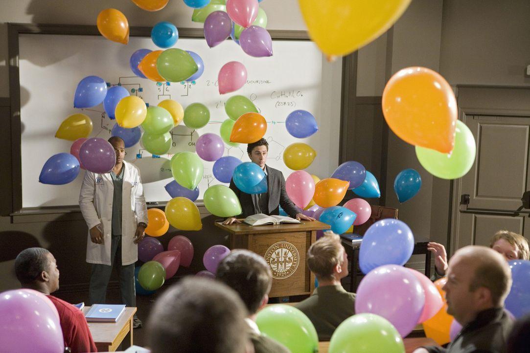 So hat J.D. (Zach Braff) sich seinen Abschied vorgestellt ... - Bildquelle: Touchstone Television