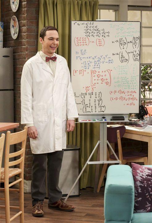 """Hat Sheldon (Jim Parsons) überhaupt eine Chance in der Neuauflage seiner Lieblingskindersendung die Rolle des """"Professor Proton"""" zu übernehmen? - Bildquelle: Warner Bros. Television"""