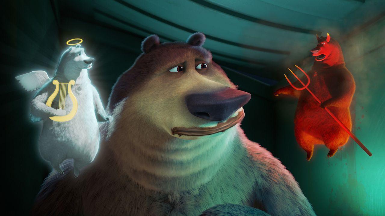 Engelchen und Teufelchen schwirren dem armen Boog um den Kopf und lassen ihn ratlos zurück. Gut, dass es Freunde gibt, die in so einem Moment helfen... - Bildquelle: 2010 Sony Pictures Animation Inc. All Rights Reserved.