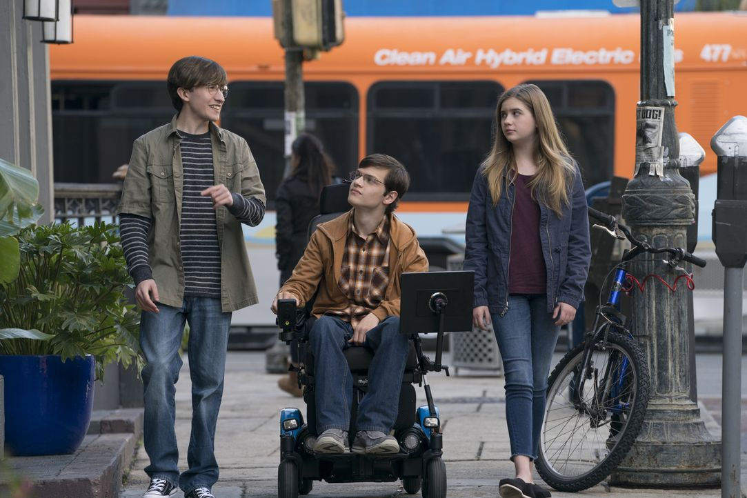 (v.l.n.r.) Aaron (Christian Lees); JJ DiMeo (Micah Fowler); Dylan DiMeo (Kyla Kenedy) - Bildquelle: 2017-2018 American Broadcasting Companies. All rights reserved.