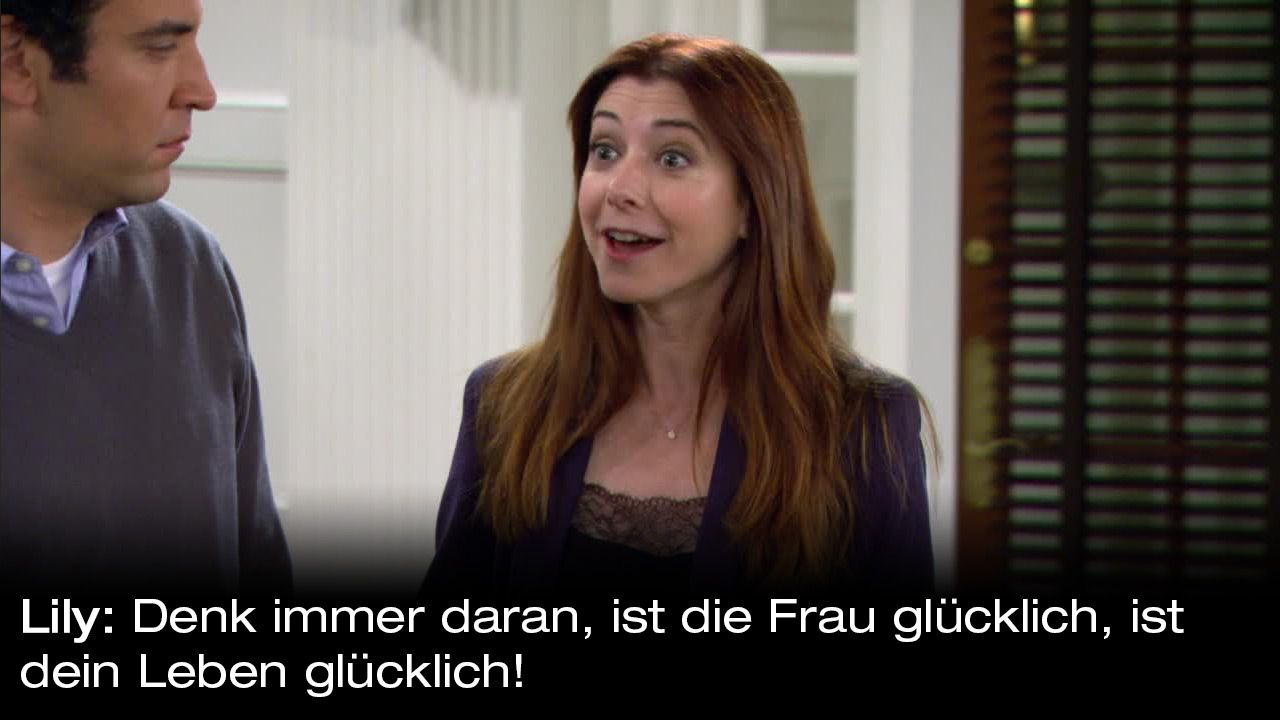 How-I-Met-Your-Mother-Zitate-Staffel-9-26-Lily-Gluecklich - Bildquelle: 20th Century Fox Film Corporation all rights reserved.