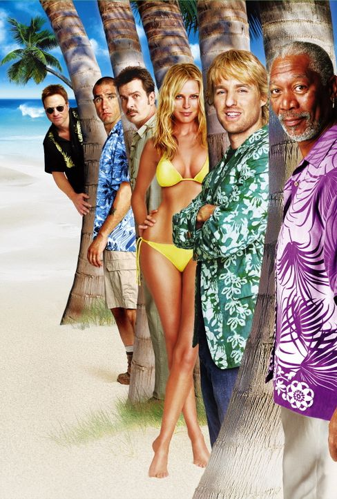 Hawaii Crime Story - (v.l.n.r. Gary Sinise, Winnie Jonesm Charlie Sheen, Sara Foster, Owen Wilson und Morgan Freeman) - Bildquelle: Warner Bros.