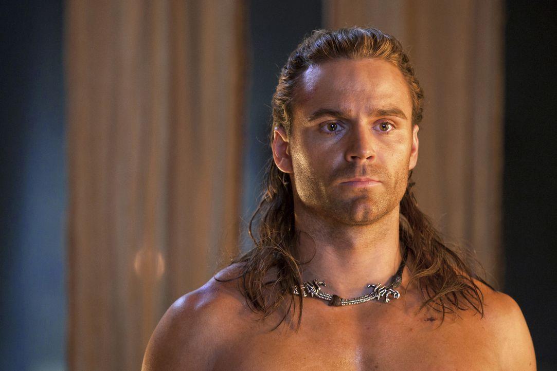 Während auf den ebenso ehrgeizigen wie erfahrenen Drago neue Herausforderungen warten, macht Gannicus (Dustin Clare) nähere Bekanntschaft mit dess... - Bildquelle: 2010 Starz Entertainment, LLC