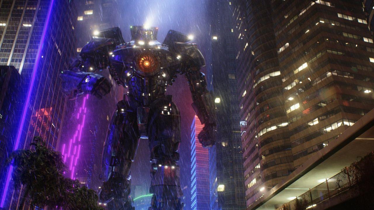 Die humanoiden Kampfroboter werden von zwei Piloten gesteuert, die durch Gedankenkopplung miteinander verbunden sind. Jedes Gefühl, jeder Gedanke un... - Bildquelle: 2013 Warner Bros. Entertainment Inc. and Legendary Pictures Funding, LLC