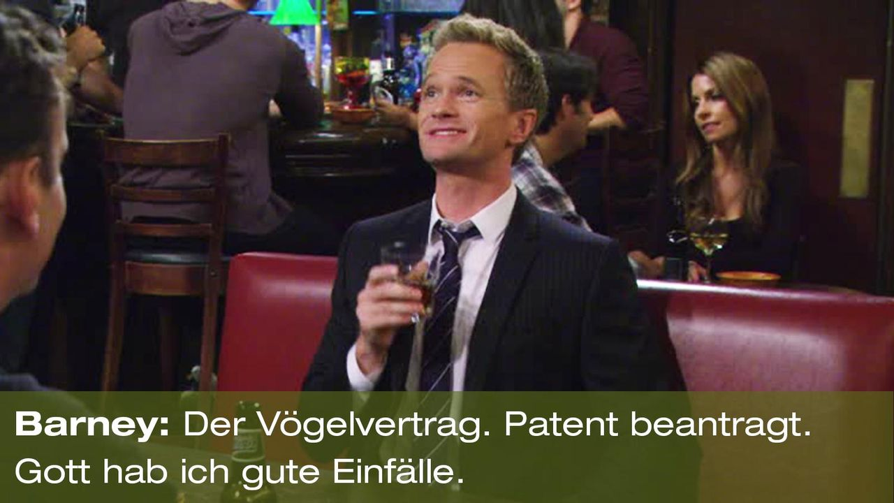 how-i-met-your-mother-zitat-quote-staffel-8-episode-2-prenup-klaus-zuhaus-5-barney-voegelvertrag-foxpng 1600 x 900 - Bildquelle: 20th Century Fox