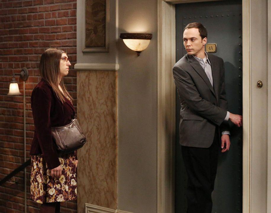 Glauben, dass sie das glücklichste Paar der Clique sind. Doch haben Sheldon (Jim Parsons, r.) und Amy (Mayim Bialik, l.) wirklich recht damit? - Bildquelle: Warner Brothers