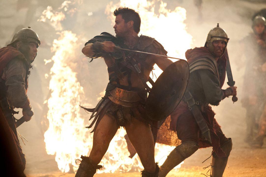 Zieht mit Crixus gen Rom und ins Verderben: Agron (Daniel Feuerriegel), der seine große Liebe in Spartacus' Truppe zurücklässt ... - Bildquelle: 2012 Starz Entertainment, LLC. All rights reserved.