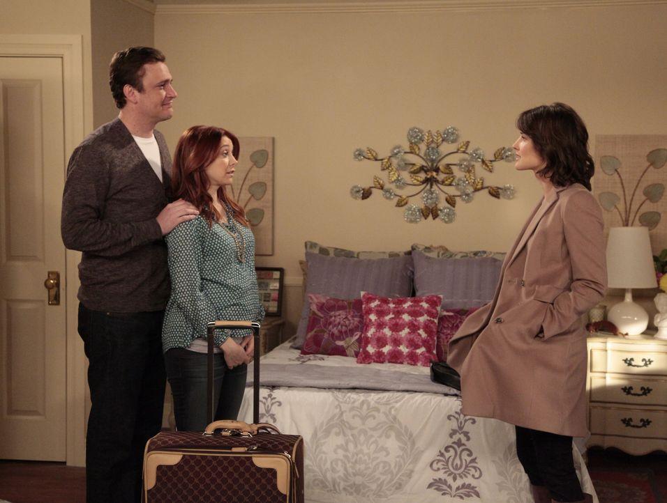 Robin muss erkennen, dass das neuen Leben von Marshall (Jason Segel, l.) und Lily (Alyson Hannigan, M.) sehr spießig geworden ist, während Barney... - Bildquelle: 20th Century Fox International Television